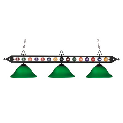 Designer Classics 3 Light Billiard , Island