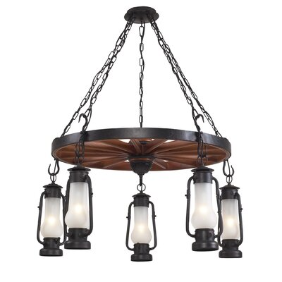 Landmark Lighting Chapman 5 Light Outdoor Chandelier | Wayfair