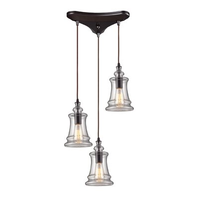 Landmark Lighting Menlow Park 60W 3 Light Pendant