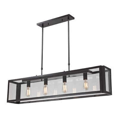 Landmark Lighting Parameters-Bronze 4 Light Pendant