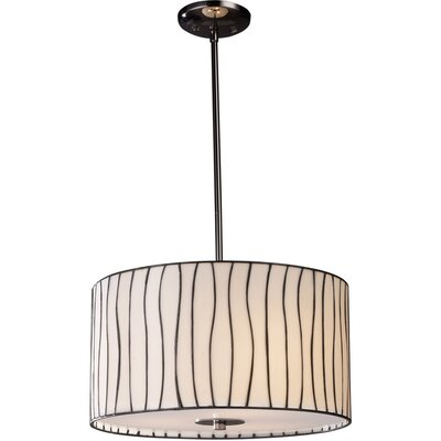 <strong>Landmark Lighting</strong> Lineas 3 Light Drum Pendant