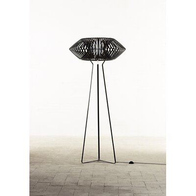 Arturo Alvarez V One Light Floor Lamp in Black