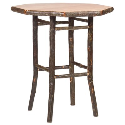 Fireside Lodge Hickory Pub Table and Round Barstool Set