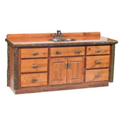 "Fireside Lodge Hickory 72"" Bathroom Sink Vanity"