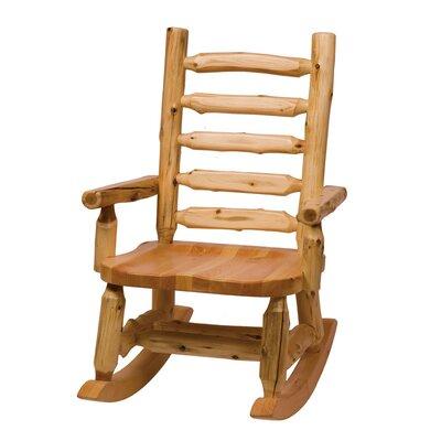 Traditional Cedar Log Rocking Chair