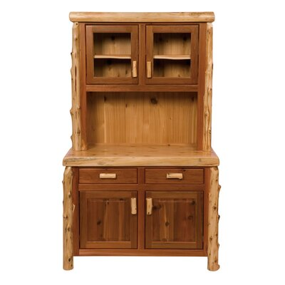 Fireside Lodge Traditional Cedar Log China Cabinet
