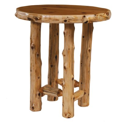 Traditional Cedar Log Round Pub Table