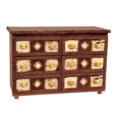 Fireside Lodge Adirondack 6 Drawer Dresser