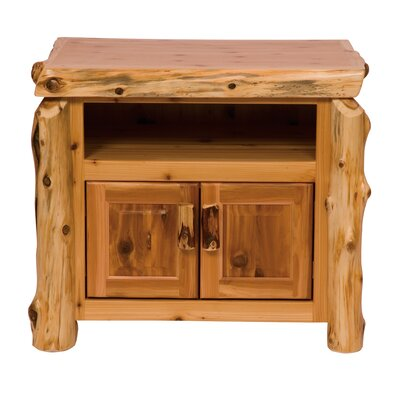 "Fireside Lodge Traditional Cedar Log 34"" TV Stand"