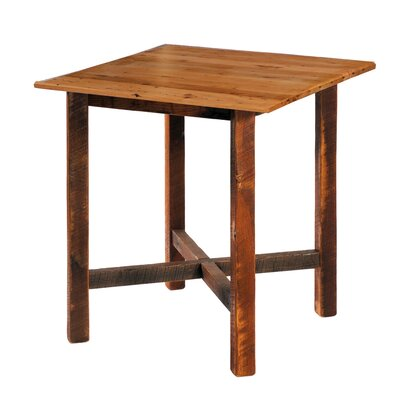 "Fireside Lodge Reclaimed Barnwood 40"" Square Pub Table"