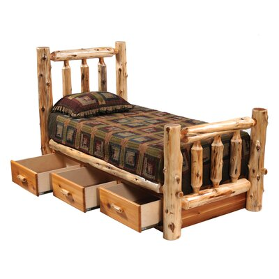Fireside Lodge Hickory Underbed 3 Drawer Dresser