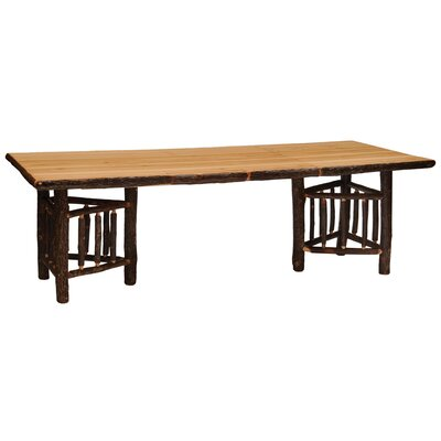 Hickory Log Dining Table