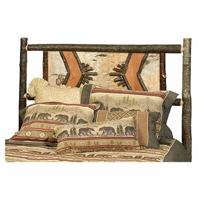 <strong>Fireside Lodge</strong> Hickory Adirondack Panel Headboard