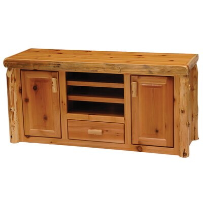 Traditional Cedar Log Entertainment Center