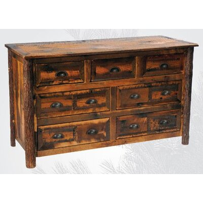 Reclaimed Barnwood 7 Drawer Dresser