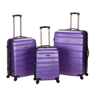 <strong>Rockland</strong> Melbourne 3 Piece ABS Luggage Set