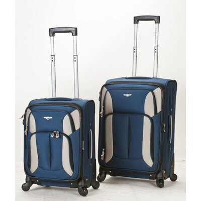 2 Piece Spinner Carry On Luggage Set