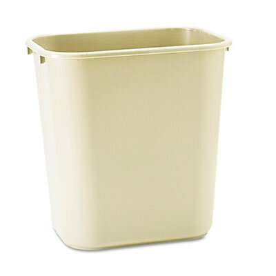 Rubbermaid Commercial Deskside Plastic Wastebasket, Rectangular, 7 Gal