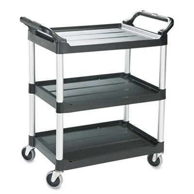 Rubbermaid Commercial Economy Plastic Cart, 3-Shelf, 18-5/8W X 33-5/8D X 37-3/4H