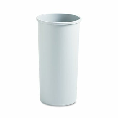 Rubbermaid Untouchable Waste Receptacle, Round, Plastic, 22gal, Gray