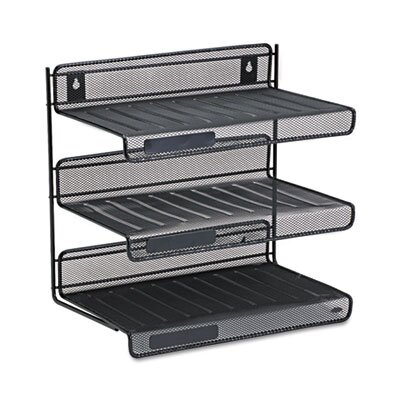 Rubbermaid Rolodex Mesh 3-Tier Letter Size Desk Shelf
