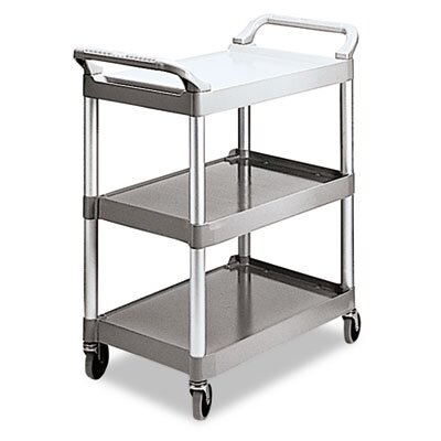 Rubbermaid Commercial Economy Plastic Cart, 3-Shelf