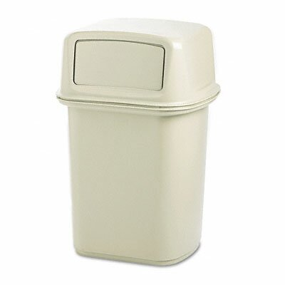 Rubbermaid Ranger Fire-Safe Container, Square, Structural Foam, 45gal, Beige