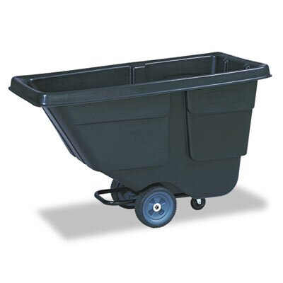 Rubbermaid Value Line Tilt Truck, Plastic w/Steel Frame, 300lb, Black