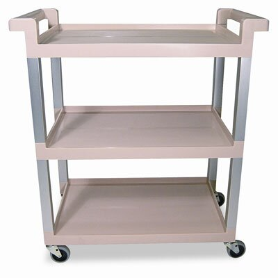 Rubbermaid Commercial Service Cart with Brushed Aluminum Upright