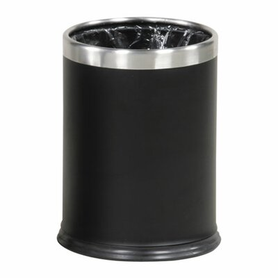 Rubbermaid Hide-A-Bag Wastebasket, Black