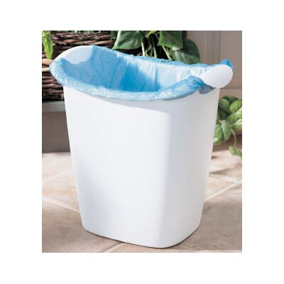 Rubbermaid 14 Quart White Recycle Bag Wastebasket