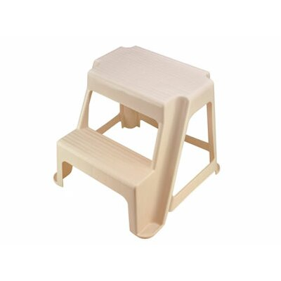 Rubbermaid Roughneck Two-Step Step Stool in Light Platinum