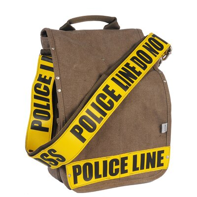 Police Line Do Not Cross Utility Messenger Bag in Yellow