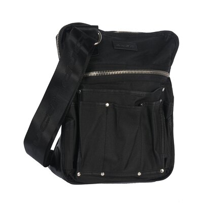Ballistic Messenger Bag in Black