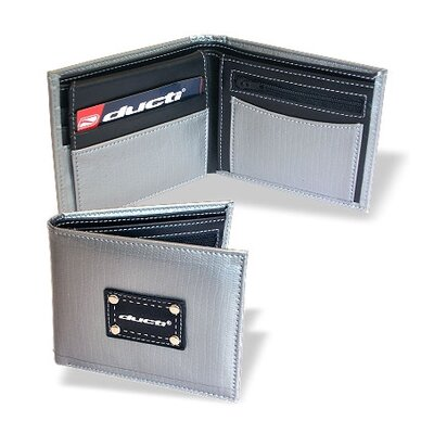 Ducti Hybrid Vault Wallet with Change Pouch in Silver