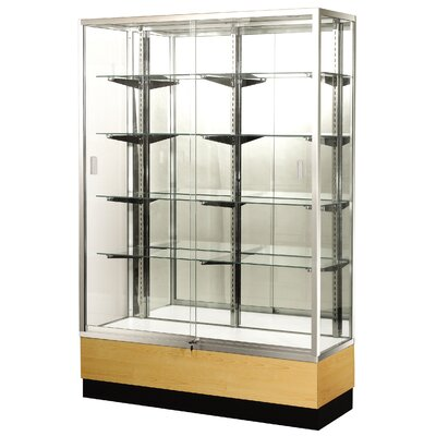 "Sturdy Store Displays Streamline 36"" x 18"" Trophy Case with Panel Back"