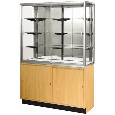 "Sturdy Store Displays Streamline 70"" x 15"" Wallcase with Glass Back"