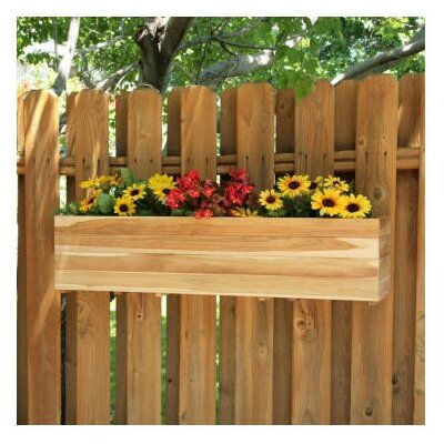 "Diamond Teak 10.5"" Rectangular Window Box Planter"