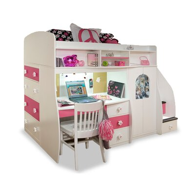 Berg Furniture Twin Loft with Central Play Area & Desk