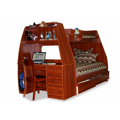 Berg Furniture Enterprise Twin over Full Bunk Bed with Desk and Storage