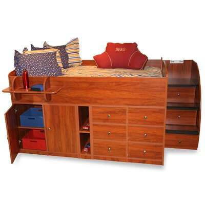 Berg Furniture Sierra Twin Captain Bed with Stairs and Storage