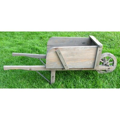 Colonial Wood Wheel Barrow Rectangular Planter