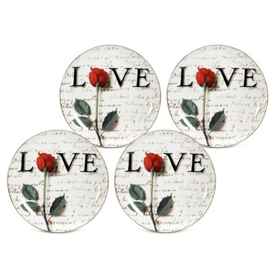 PS Collection Love Letters Dessert / Salad Plate