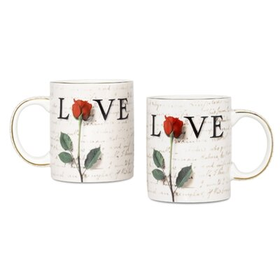 PS Collection Love Letters 12 oz. Coffee Mug