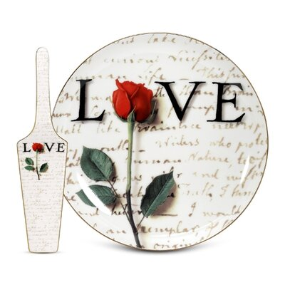 PS Collection Love Letters Cake Plate and Server