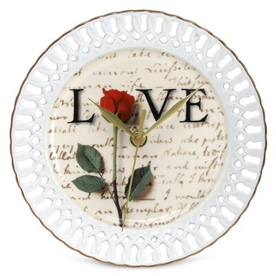 PS Collection Love Letters Porcelain Wall Clock