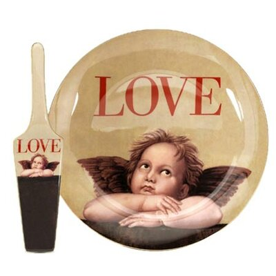 PS Collection Love Cupid Cake Plate and Server