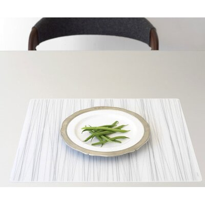 Modern-Twist Stream Placemat in Silver on Clear Base