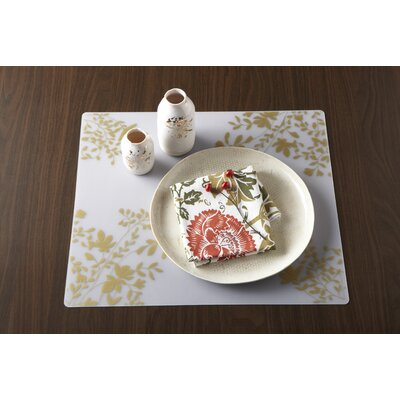 Modern-Twist Jardin Placemat Filled on Clear Base