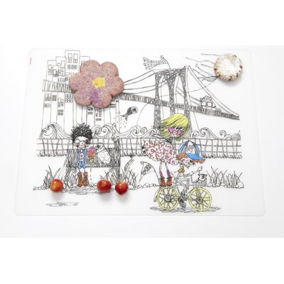 Modern-Twist City Kidz  Placemat in Black